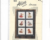Holly Trail quot Six Alice Figures to Applique