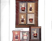 Country Appliques quot Old Rabbits quot Pattern 91