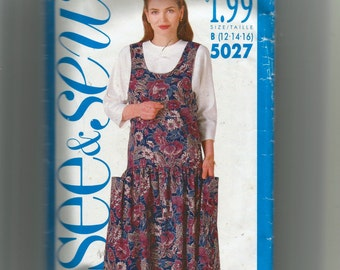 ef0ae448e3 Butterick Misses  Jumper and Top Pattern 5027