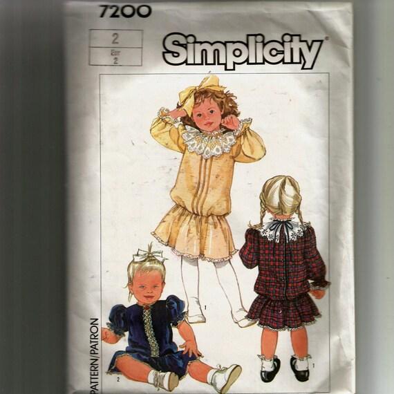 Einfachheit Kleinkinder Schnittmuster 7200 | Etsy