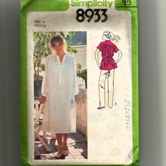 Vestido simplicidad Juniors o el patrón superior 8933 | Etsy