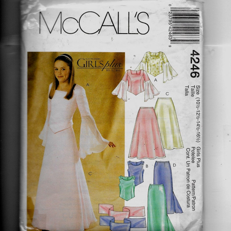 36af4640f32 McCall s Girls  Plus Tops Skirts and Stole Pattern