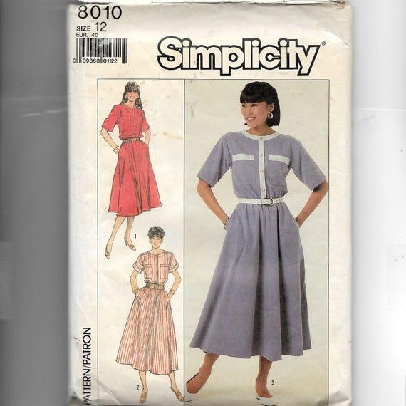 En dos longitudes de simplicidad señoritas vestido patrón 8010 | Etsy