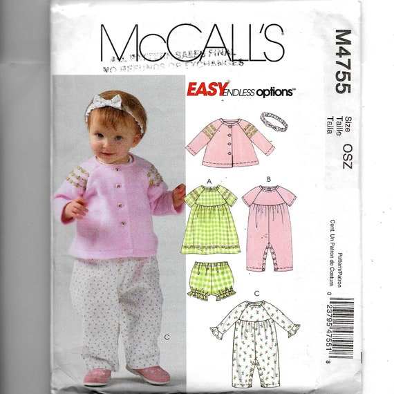 McCall\'s Infants\' Jacket DressPanties Jumpsuit and | Etsy