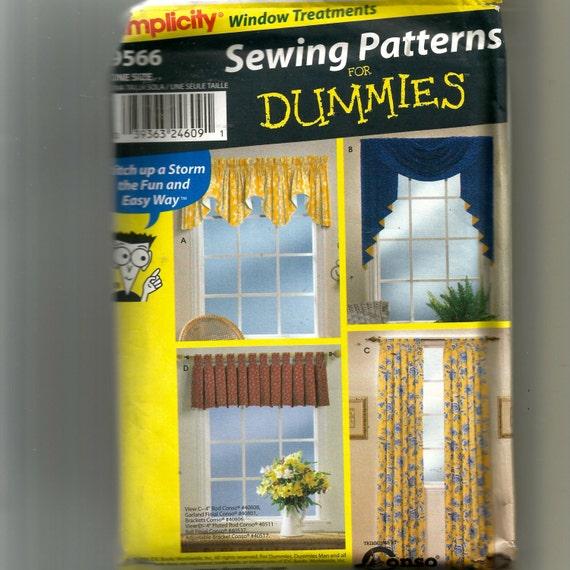 Einfachheit Fenster Behandlung Muster 9566 | Etsy