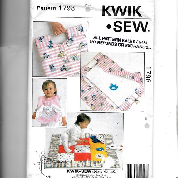 Kwik Sew Baby Bib Play Quilt and Carry Along Changing Pad | Etsy