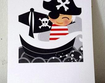 Little Pirate Pete 5x7 Art Print