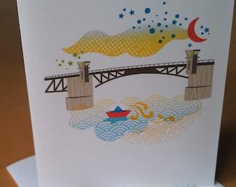 Morrison Bridge Portland Notecards