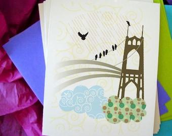 St. Johns Bridge Notecards