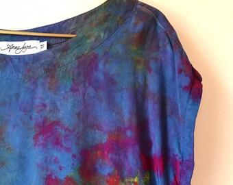 Back in Stock, Hand Dyed Tank Dress in Night Flower, Anna Joyce, Portland, OR