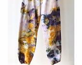 Hand Dyed Cotton Sweatpants in Super Nova, Anna Joyce, Portland, OR. Tie Dye, Cuffs