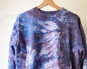 Hand Dyed Cotton Crew Neck Sweatshirt in Orchid, Anna Joyce, Portland, OR. Tie Dye