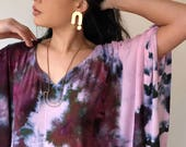 READY to SHIP, Hand Dyed Caftan in Rose Gold,  Rayon Gauze, Anna Joyce, Portland, OR,