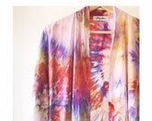 Hand Dyed Kimono Robe, in Cosmos, Tie Dyed Rayon Bathrobe, Anna Joyce, Portland, OR