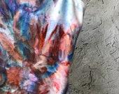 Tie Dye Bodysuit in Sand and Sky, Hand Dyed Leotard, Anna Joyce, Portland,