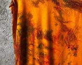 Hand Dyed Tank Dress in Blooming Saffron, Aqua, mint, lavender, tie dye,  Anna Joyce, Portland, OR