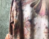 Hand Dyed Cotton Crew Neck Sweatshirt in Magnolia Tree, Anna Joyce, Portland, OR. Tie Dye