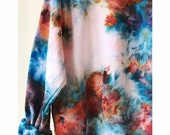 Hand Dyed Cotton Crew in Neptune, Anna Joyce, Portland, OR. Tie Dye,