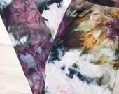 Hand Dyed Cotton Leggings in Super Nova,  Anna Joyce, Portland, OR