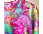 Hand Dyed Cotton Crew Neck T-Shirt in Prism  Anna Joyce, Portland, OR. Tie Dye