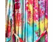 Hand Dyed Kimono Robe in PRISM, Tie Dyed Rayon Bathrobe, Anna Joyce, Portland, OR