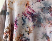 Limited Edition, Hand Dyed Cotton Crew Neck Sweatshirt in  Pheonix, Anna Joyce, Portland, OR. Tie Dye