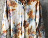 Hand Dyed Cotton Hooded Sweatshirt in Beach Walk, Anna Joyce, Portland, OR. Tie Dye,