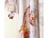 Limited Edition, Hand Dyed Kimono Robe in Opal, Tie Dyed Rayon Bathrobe, Anna Joyce, Portland, OR