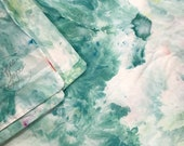 Reef Hand Dyed Bedding, mint, aqua, Shibori Duvet Cover and Two Pillow Cases, Twin, Queen and King, Anna Joyce, Portland, OR