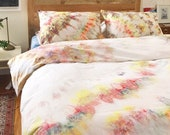 NEW Rock Candy Hand Dyed Duvet Cover and Pillowcase, Tie Dye Sheets, Anna Joyce, Portland, OR