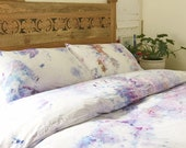 Amethyst Hand Dyed Bedding, Shibori Bedding, Duvet Cover and Two Pillow Cases, Twin, Queen and King, Anna Joyce, Portland, OR