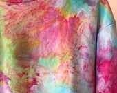 Hand Dyed Cotton Crew Neck Sweatshirt in Prism, Anna Joyce, Portland, OR. Tie Dye,