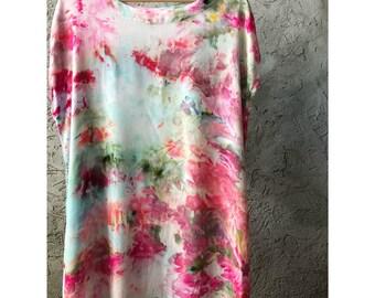 Hand Dyed Rayon Tank Dress in Monet's Garden , Anna Joyce, Portland, OR