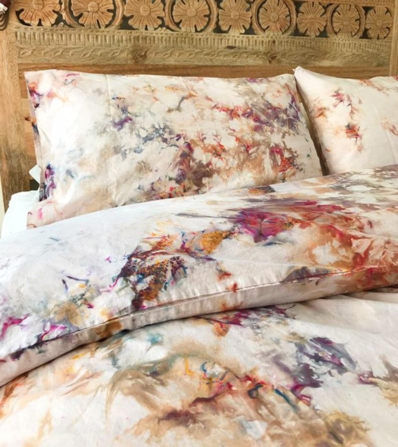 da3b63cf87d3e0 NEW Phoenix Hand Dyed Bedding Tie Dye Bedding Duvet Cover