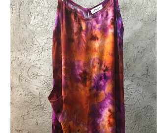 NEW Hand Dyed Jumpsuit in Tiger'd Eye, Rayon Gauze, Anna Joyce