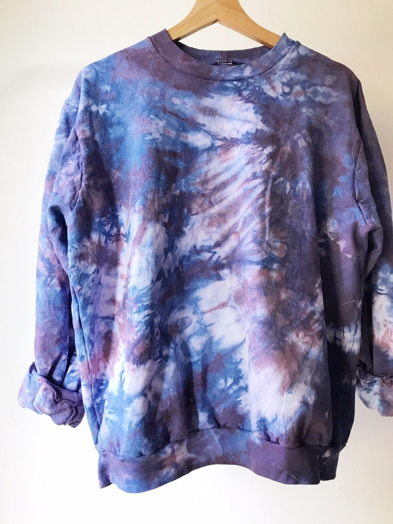 Hand Dyed Cotton Crew Neck Sweatshirt in Orchid Anna Joyce image 0