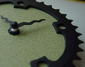 Recycled Bike Clock in Earth Green