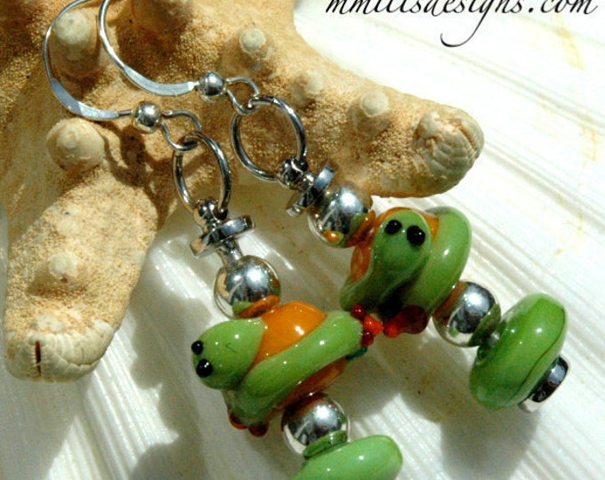 Featured listing image: Springtime Inch Worm Earrings