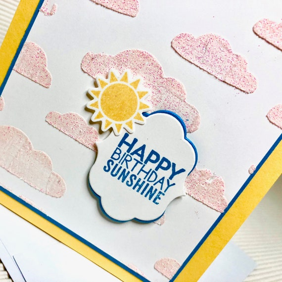Birthday Card For Her Fancy Handmade Greeting Stamped