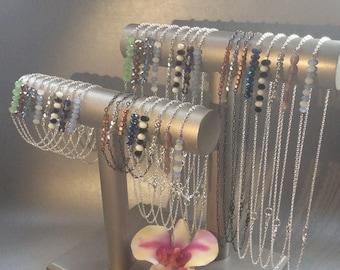 Bead Bar Necklace & Bracelet- bar bracelet, bar necklace, bead bracelet, bead necklace, beaded bracelet, beaded bracelets, beaded necklace