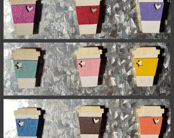 Love You Latte' Magnets - colorful magnets   latte magnets   coffee magnets   wood magnet