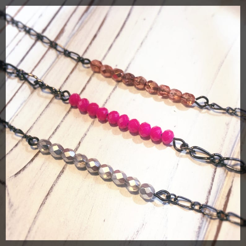 Bead Bar Necklace  simple necklace elegant necklace layer image 0