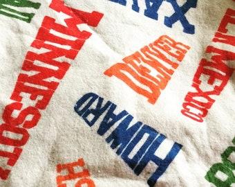 Vintage Stadium Blanket - 101 College Names