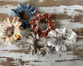 Hair Scrunchie Bundle-Set of 5 - Boho-Hair Bands
