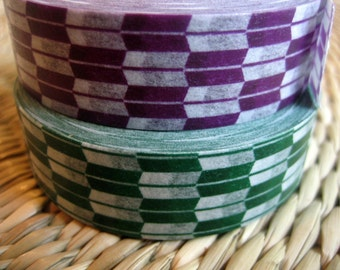japanese washi masking tape, set of 2 patterns, traditional japanese arrow pattern