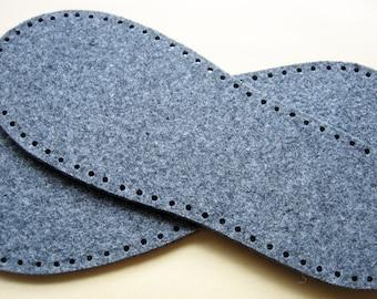 felt slipper soles, one pair
