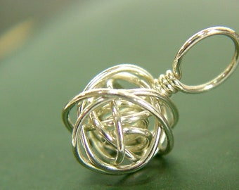 Sterling Silver Wire Ball Stitch Marker - Sized and Made to Order - US6 to US13