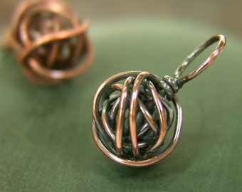 Copper Wire Ball Stitch Marker - Made to Order - Sizes US6 to US15
