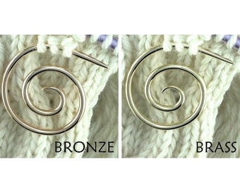 Spiral Cable Needle, Handmade Knitting Tool