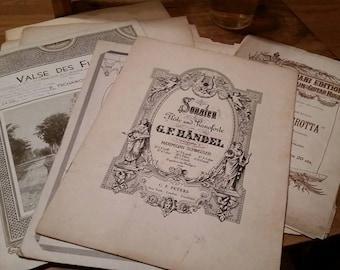 Vintage Music Sheet Lot